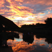 Sunset at the Caroni Swamp, Caroni Bird Sanctuary, Tourism